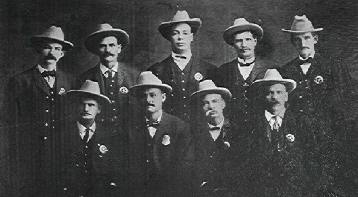 first nine officers in San Bernardino Police Department