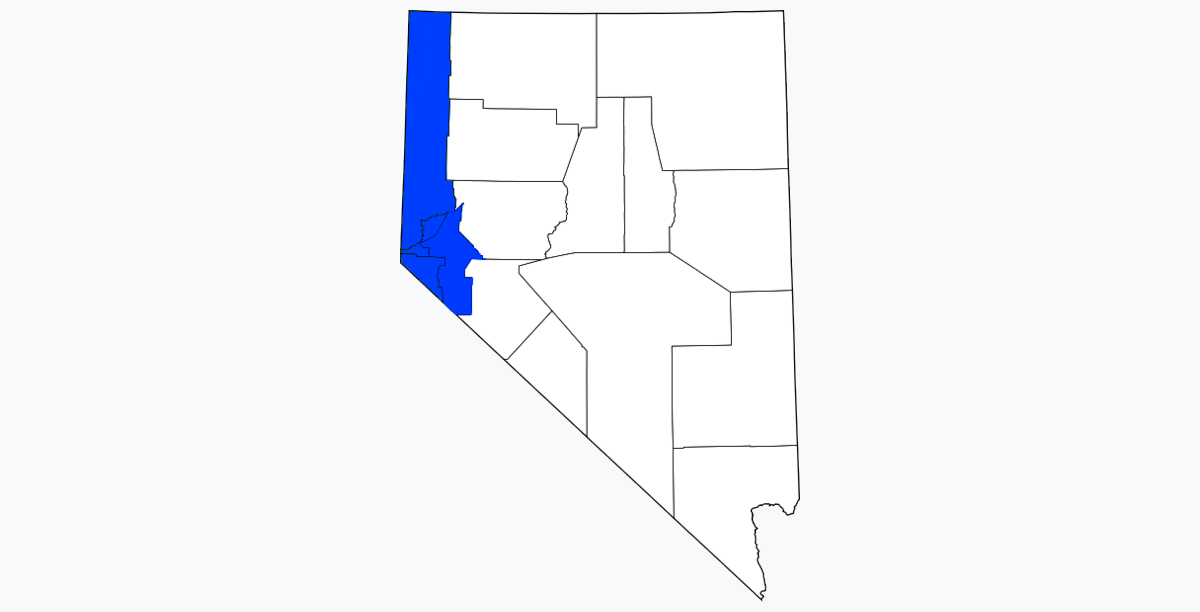 Western Nevada USA geographic region and counties