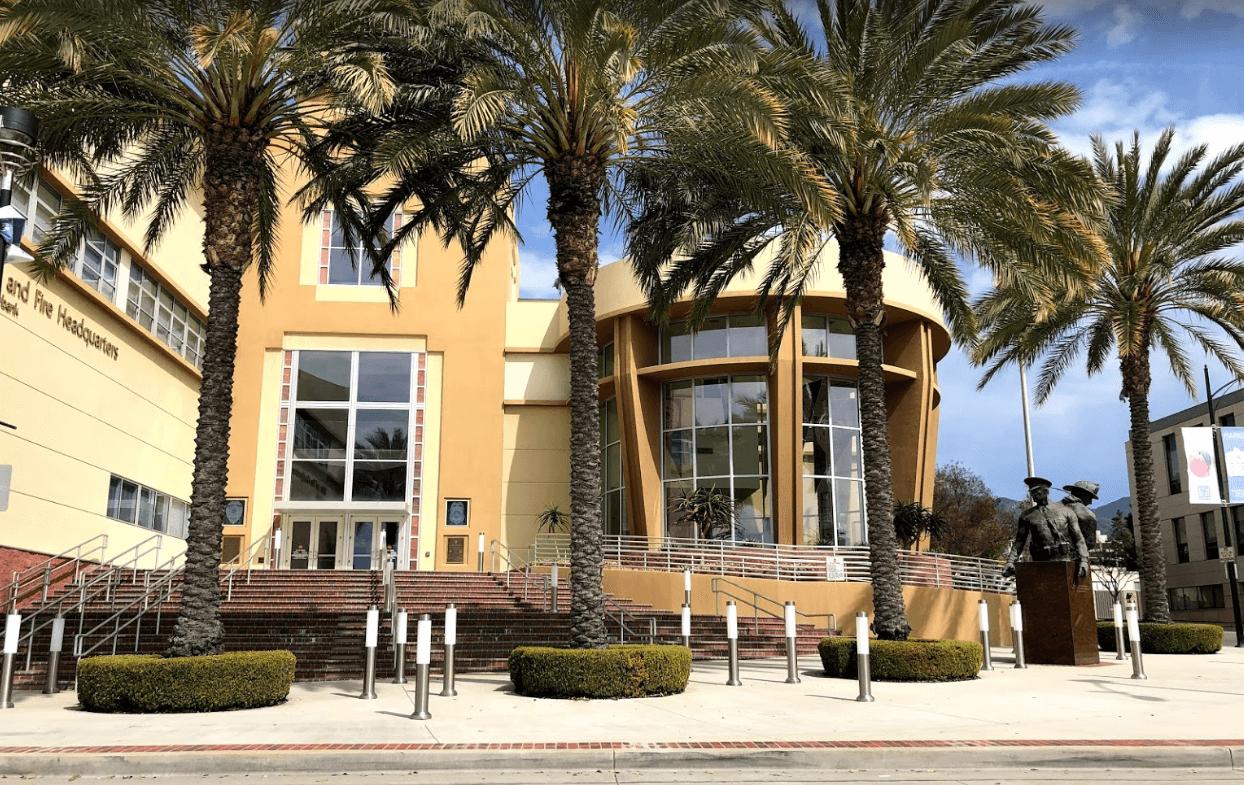 Burbank Police Department Entrance