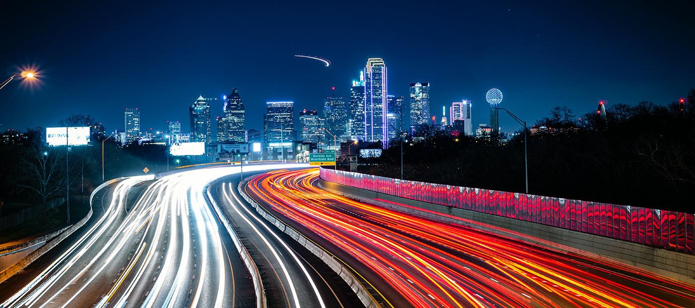 Dallas Texas drivers at night