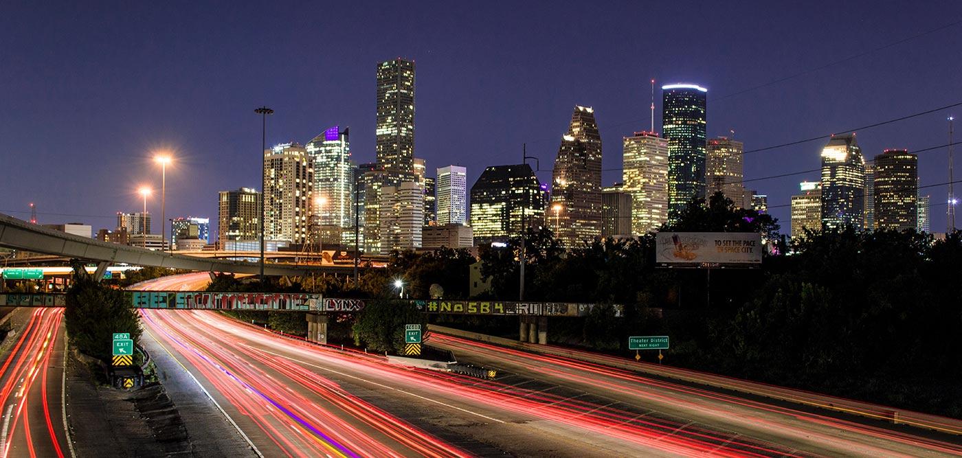 houston texas drivers at night