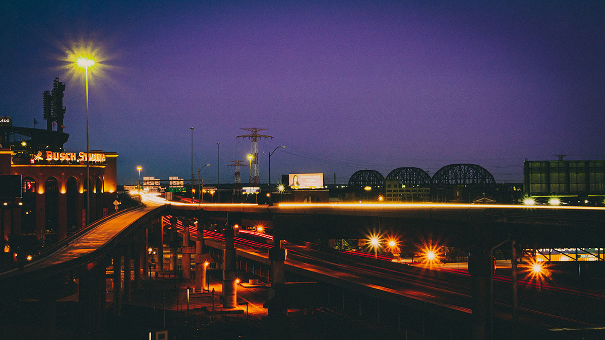 driving at night in St. Louis