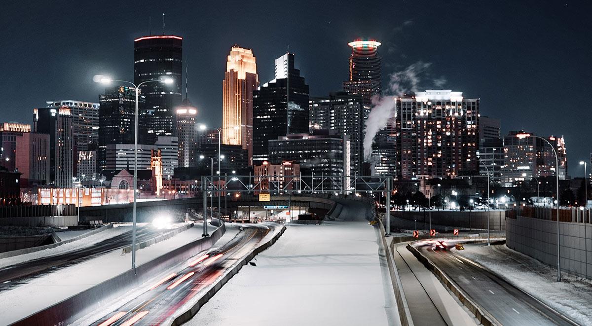 Minneapolis drivers at night