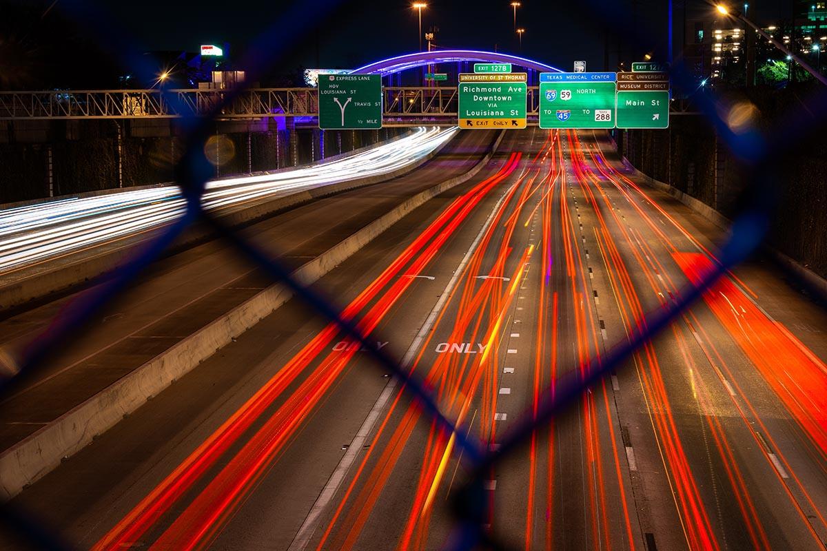 Night Driving Arlington Texas