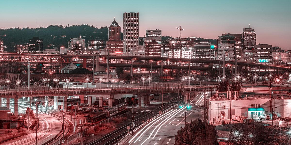 Portland Oregon drivers at night