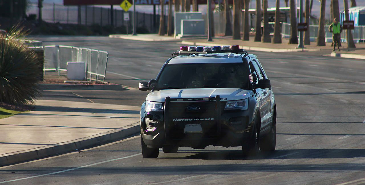 las vegas police department vehicle